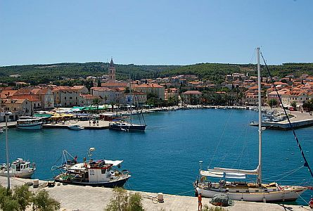harbour on Croatia coast