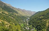 View on a valley in the Pyrenees