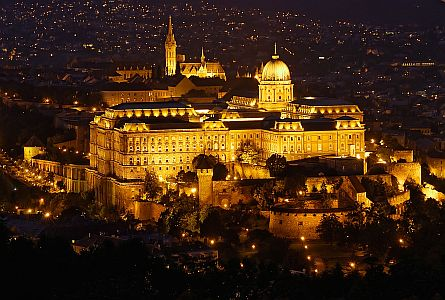Buda castle by night, Budapest, Hungary