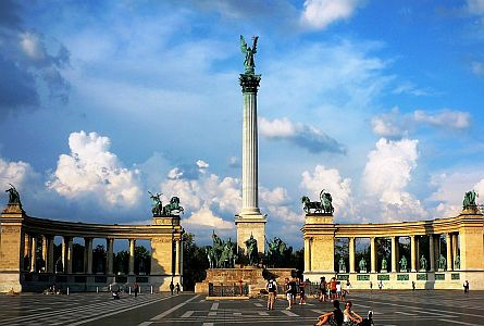 Heroes' Square in Budapest, Hungary