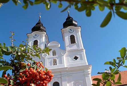 A church in the beautiful town of Tihany