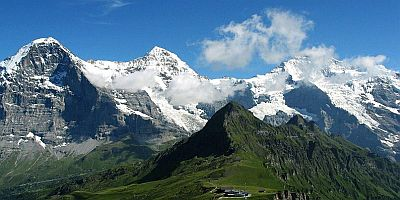 Jungfrau & Eiger mountain in Switzerland, Europe.