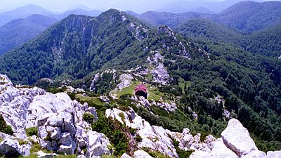 View on wild and green mountain, the interior of Paklenica National Park in Croatia. Original photo by Luka Jacov  (see  http://en.wikipedia.org/wiki/File:View_to_the_Schlosser_lodge_from_the_Veliki_Risnjak.jpg)