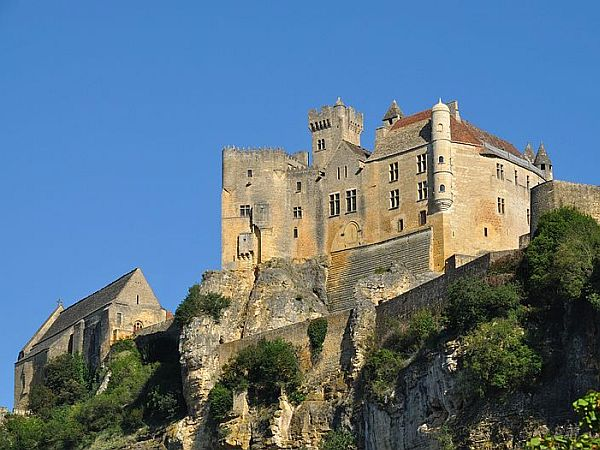 Castle on limestone cliffs
