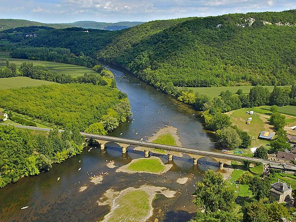 View from high point on the Dordogne river