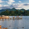 The pier near Keswick on Derwent Water in the Lake District, England.