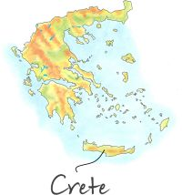 Location of Crete in Greece