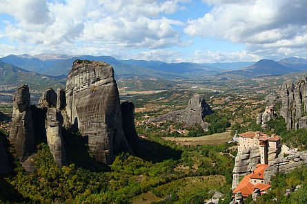 View on Meteora in Greece.