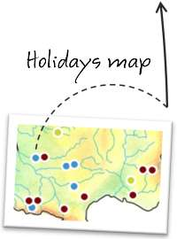 Holidays map