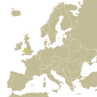 Map of Wales in Europe