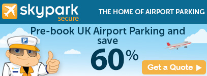 Pre-book UK Airport Parking with skypark and save 60%