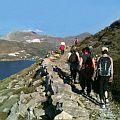 Group of people walking on Amorgos Island