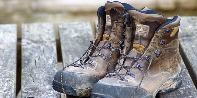 Pair of walking boots.