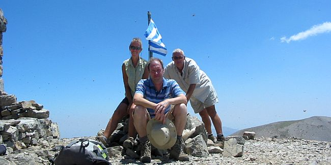 mountain walking on Crete
