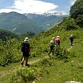 Small group of walkers in the Western Pyrenees