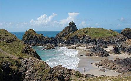View on picturesque cove in Cornwall