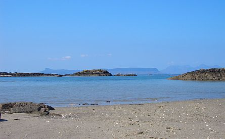 View on beach near Arisaig - Scotland