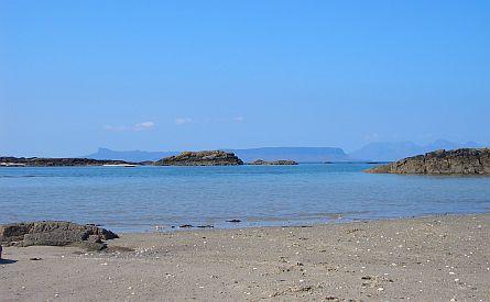 View on beach near Arisaig - Scotland