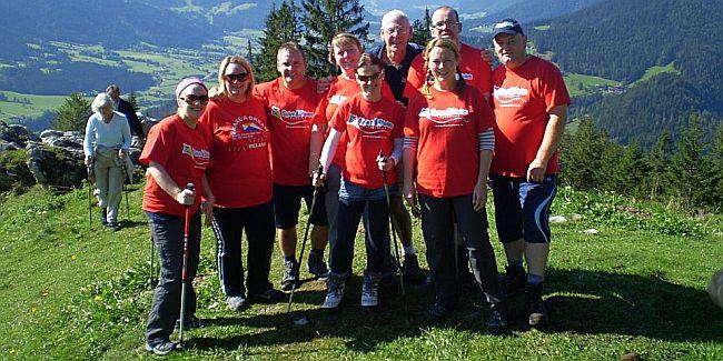 The 2012 Share a Dream Team on a mountain in the Austrian Alps