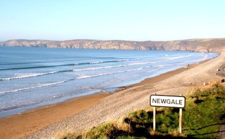 beach at newgale in Pembrokeshire