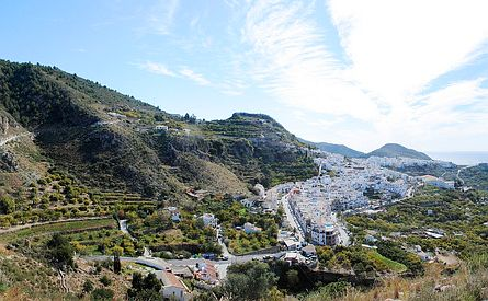 the village Frigilliana in Andalucia