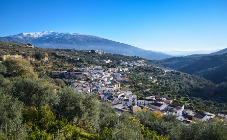 Andalucia mountain village panorama