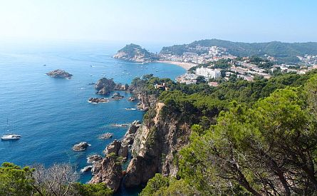 Rocky coastline in Catalonia in Spain