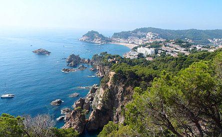 Rocky coastline in Catalonia in Spain