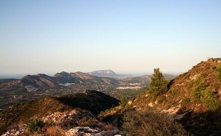 View on Alta Marina mountains in Valencia
