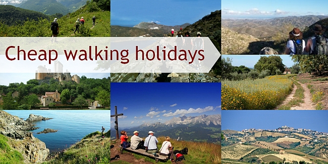 Selection of images from cheap and budget walking holidays in Europe and the UK