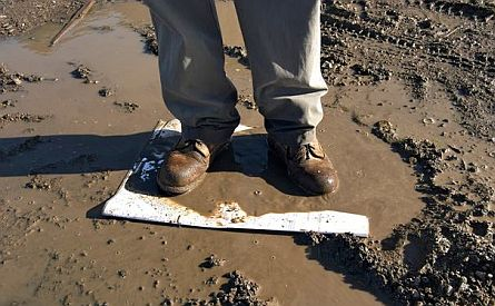 map under mud