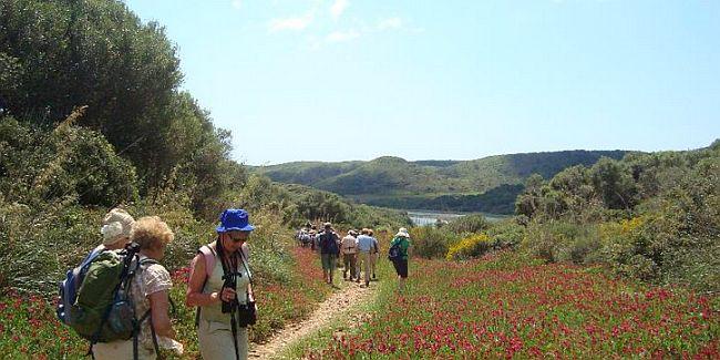 Group on a walk on Menorca