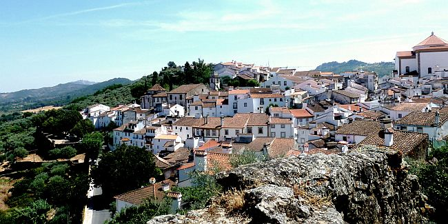 Panoramic view on Medieval settlement in Portugal