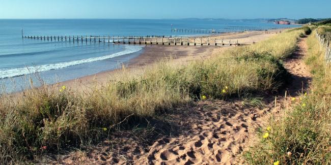 Dawlish Warren dunes, beach and sea
