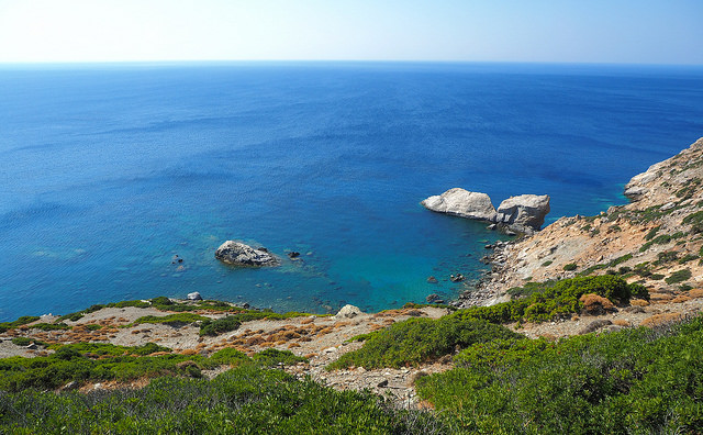 A beautiful landscape on Amorgos - Ammoudi beach