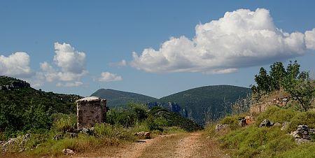 Walking path in the mountain