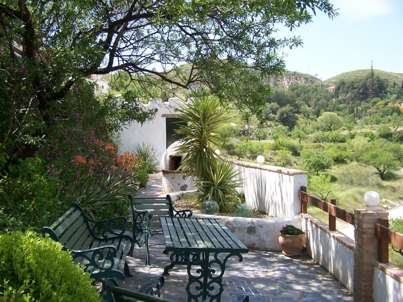 view from terrace at the Cortijo