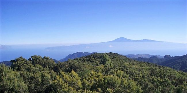 Above the clouds on la Gomera Island