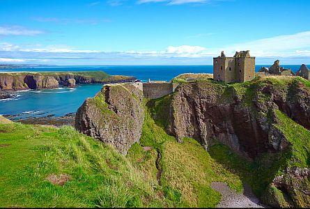 Castle on rocks above the sea