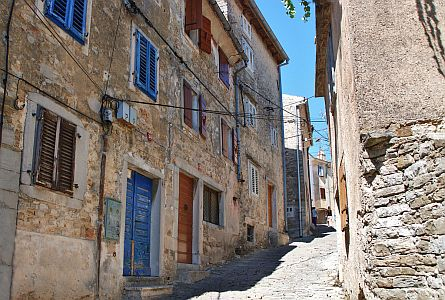 picturesque street in Istria