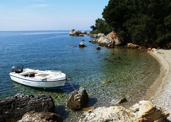 Secluded bay on the Pelion Peninsula