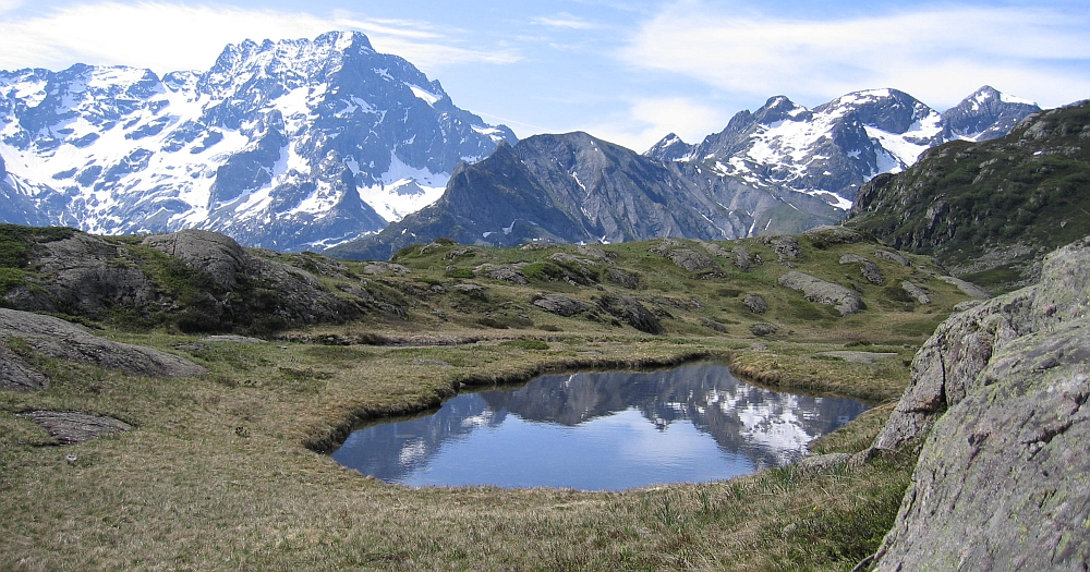 Mountain lake in the French Alps