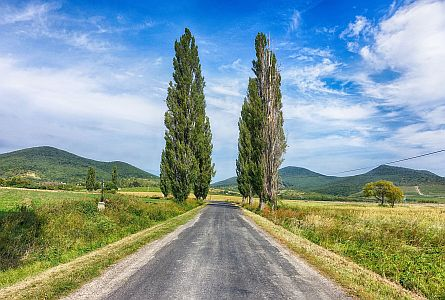 view on picturesque landscape in hungary