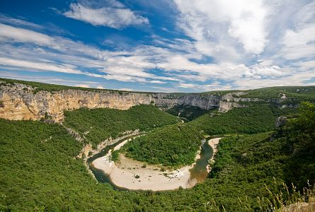 River Gorge in the Ardeche