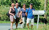 Two couples on a walking holiday in the Pay de Gatine