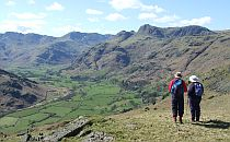 Walkers admiring the view of Lake district