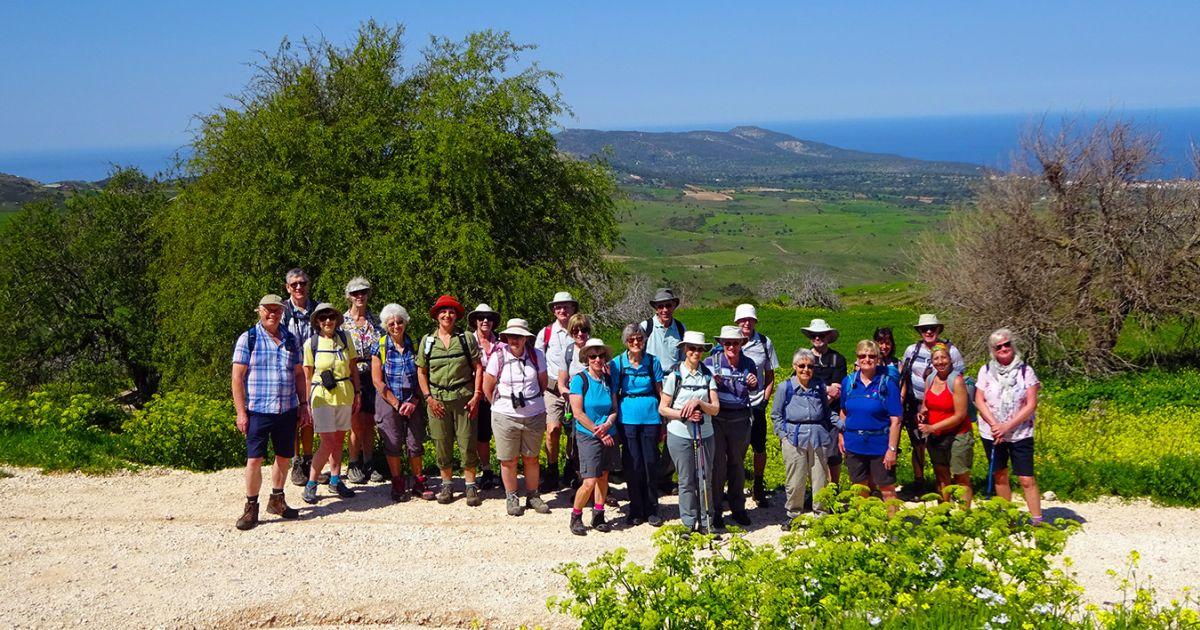 group of walkers on cyprus
