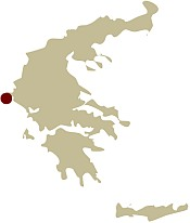 Map of Greece showing the location of the Ionian island of Corfu Guided walking holiday