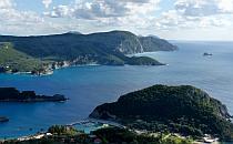 Rocky shore of an island, beautiful dark sea