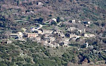 Little stony village on a hill